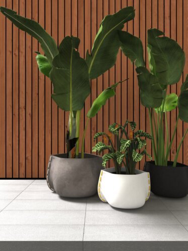 Outdoor Setting Plant Pot Collection - Concrete Planter Ideas