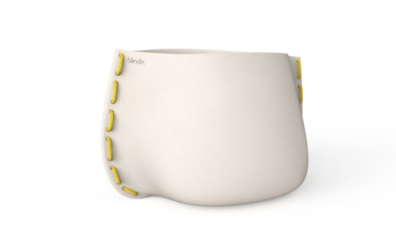 Stitch 125 Planter - Bone / Yellow by Blinde Design
