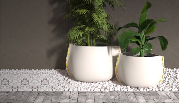 Stitch Plant Pot Collection - Stitch 125 Plant Pot by Blinde Design