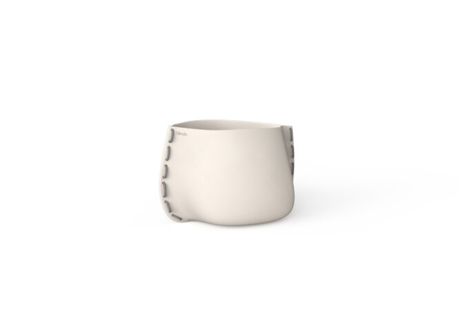 Stitch 25 Plant Pot - Bone / Grey by Blinde Design