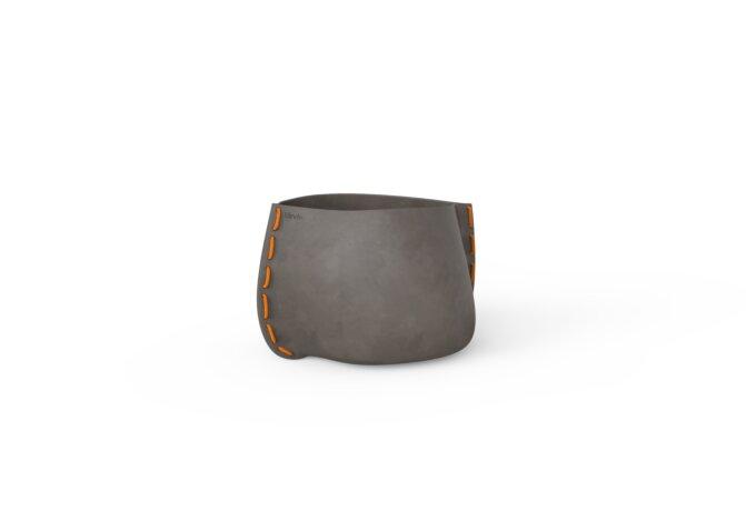 Stitch 25 Plant Pot - Natural / Orange by Blinde Design