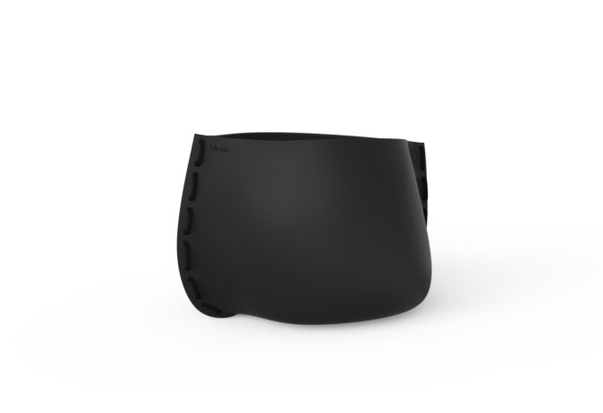 Stitch 75 Plant Pot - Graphite / Black by Blinde Design