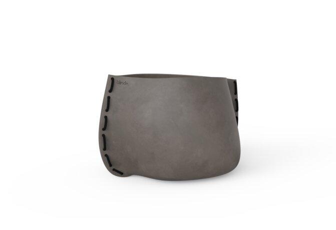 Stitch 75 Plant Pot - Natural / Black by Blinde Design