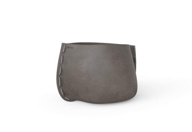 Stitch 75 Plant Pot - Natural / Grey by Blinde Design