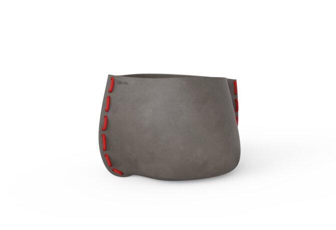 Stitch 75 Plant Pot - Natural / Red by Blinde Design