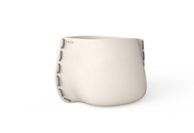 Stitch 100 Plant Pot - Bone / Grey by Blinde Design