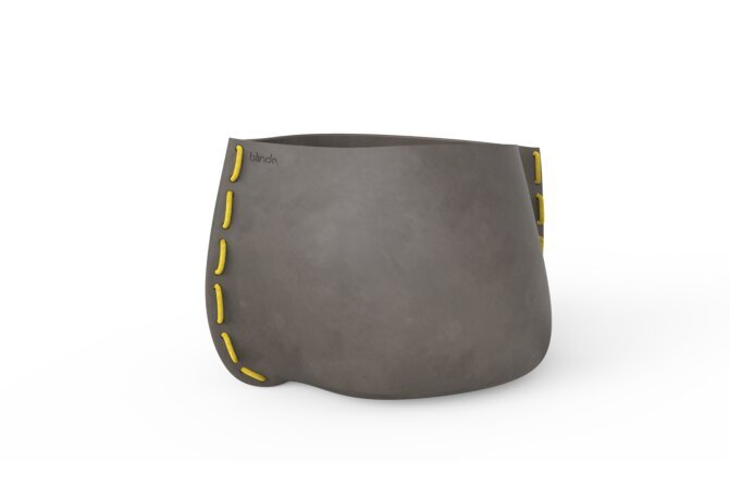 Stitch 100 Plant Pot - Natural / Yellow by Blinde Design
