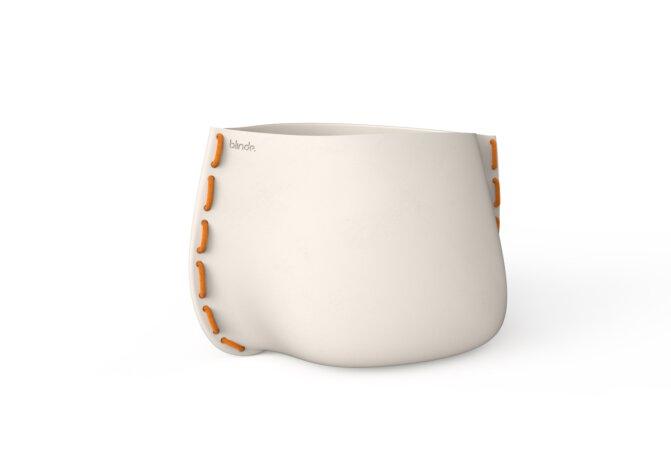 Stitch 100 Plant Pot - Bone / Orange by Blinde Design